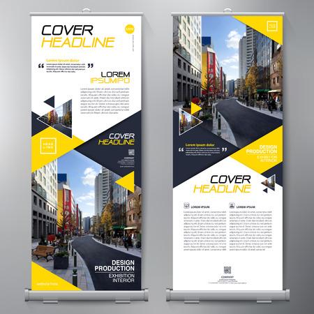 Affari Roll Up. Standee Design. Banner template. Presentazione e brochure Flyer. illustrazione di vettore Archivio Fotografico - 73581036