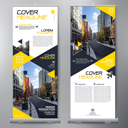 Business Roll Up. Standee Design. Banner Template. Presentation and Brochure Flyer. Vector illustration Иллюстрация
