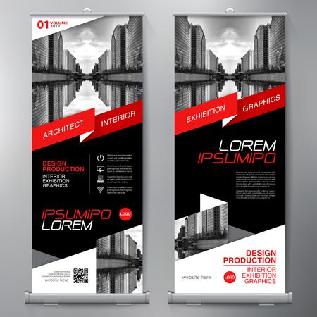 Affari Roll Up. Standee Design. Banner template. Presentazione e brochure Flyer. illustrazione di vettore Archivio Fotografico - 73533434