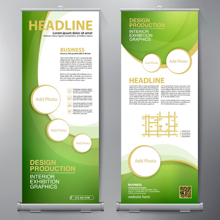 Business Roll Up. Standee Design. Banner Template. Presentation and Brochure Flyer. Vetores