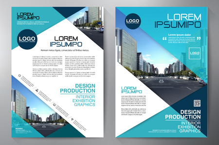leaflets: Flyer Design. Leaflets a4 Template. Cover Book and Magazine. Annual Report Vector illustration