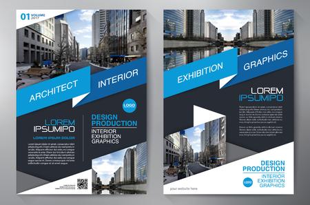 Brochure business. Volantino Design. Volantini a4 modello. Coprire libri e riviste. illustrazione vettoriale Relazione annuale