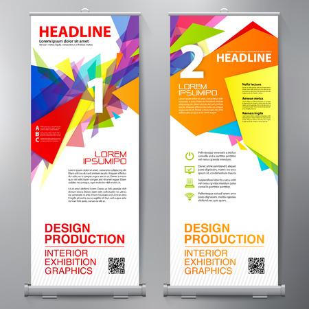Affari Roll Up. Standee Design. Banner template. Presentazione e brochure Flyer. illustrazione di vettore Archivio Fotografico - 75996769
