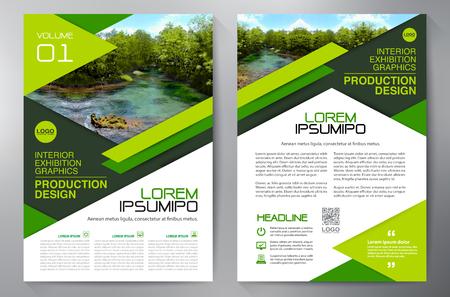 Brochure aziendale. Design Flyer. Volantini a4 modello. Copertina e rivista. Illustrazione vettoriale relazione annuale Vettoriali