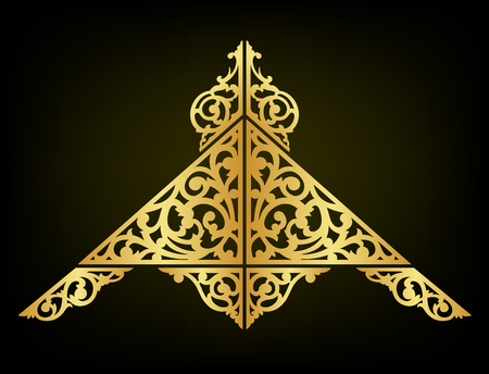 Oriental ornament decorate vector