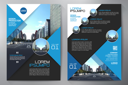 Business-Broschüre. Flyer. Broschüren A4-Vorlage. Cover Buch und Magazin. Geschäftsbericht Vektor-Illustration