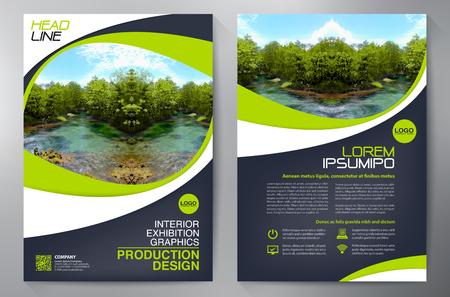 Brochure business. Volantino Design. Volantini a4 modello. Coprire libri e riviste. illustrazione vettoriale Relazione annuale Vettoriali
