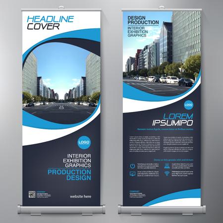 Negócios Roll Up. Projeto Standee. Template Banner. Apresentação e Folheto. ilustração vetorial Foto de archivo - 78445659