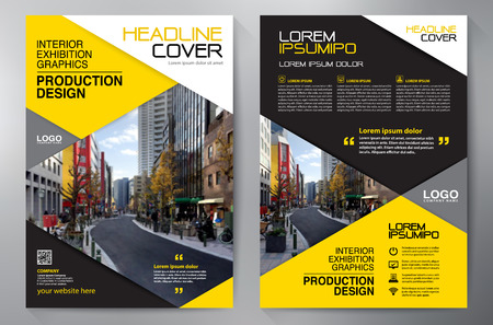 magazine cover: Business Brochure. Flyer Design. Leaflets a4 Template. Cover Book and Magazine. Annual Report Vector illustration