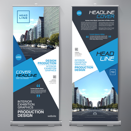 Business Roll Up. Standee Design. Banner Sjabloon. Presentatie en Brochure Flyer. Vector illustratie