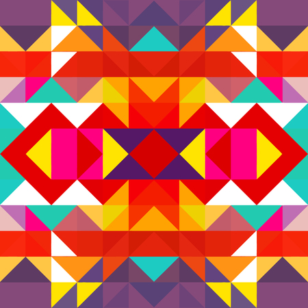 Triangle geometric shapes pattern. colorful