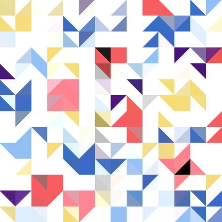 Triangle geometric shapes. Seamless Pattern