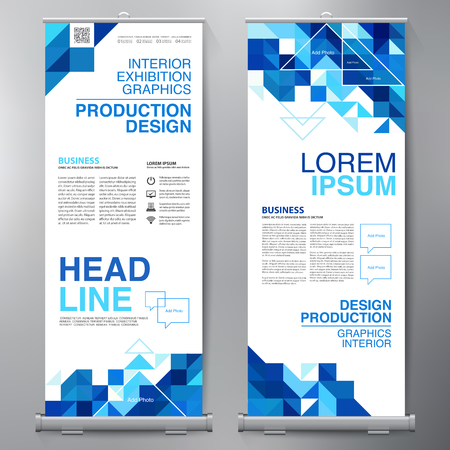 Business Roll Up. Standee Design. Banner Template. Presentation and Brochure Flyer. Vector illustration Reklamní fotografie - 82150635