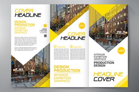 Business Brochure. Vlieger Ontwerp. Brochures 3-voudige Sjabloon. Cover Book en Magazine. Jaarverslag Vector illustratie Stock Illustratie