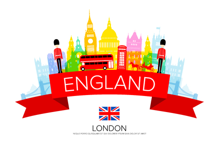 Angleterre Voyage Monuments. Vecteurs