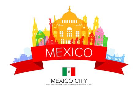 Mexico Travel Landmarks.