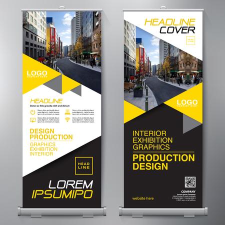 Business Roll Up. Standee Design. Banner Template. Presentation and Brochure Flyer. Vector illustration  イラスト・ベクター素材
