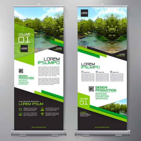 Business Roll Up. Standee Design. Banner Template. Presentation and Brochure Flyer. Vector illustration 일러스트