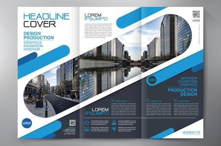 Geschäftsbroschüre. Flyer Design. Broschüren 3 Falten Vorlage. Cover Book und Magazin. Jahresbericht Vektor-Illustration