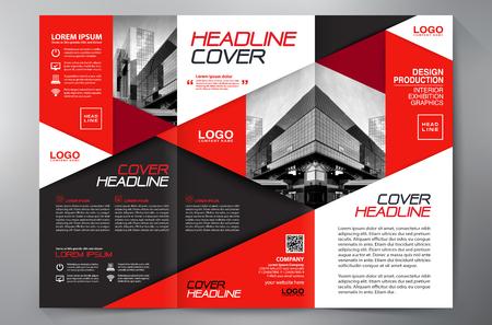 Brochure aziendali. Flyer Design. Modelli 3 fogli illustrativi. Copertina e rivista. Annual Report Illustrazione vettoriale Vettoriali