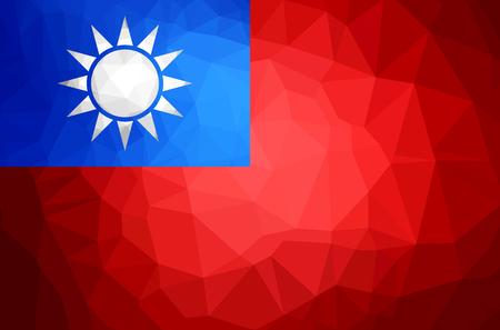 Taiwan polygon flag illustration design. Illustration