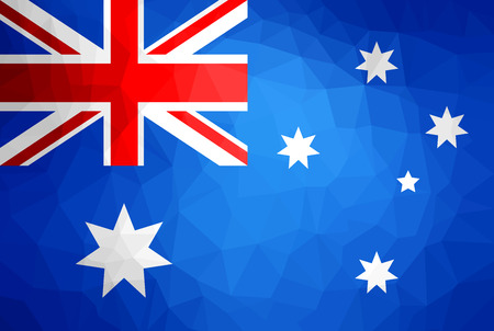 Australia Flag Abstract polygon background vector and illustration. Illustration