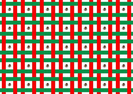 Mexique drapeau abstract vector modèle et illustration.