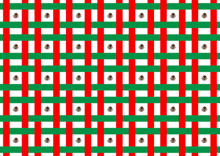Mexico flag abstract seamless pattern vector and illustration.
