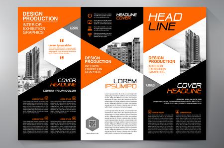 Brochure aziendale. Design volantino. Volantini 3 volte modello. Copertina e rivista. Illustrazione vettoriale di relazione annuale