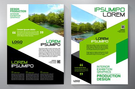 Folleto comercial. Diseño de Flyer. Plantilla de folletos a4. Libro de portada y revista. Ilustración de Vector de informe anual