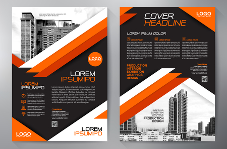Business Brochure. Flyer Design. Leaflets a4 Template. Cover Book and Magazine. Annual Report Vector illustration Vektorové ilustrace