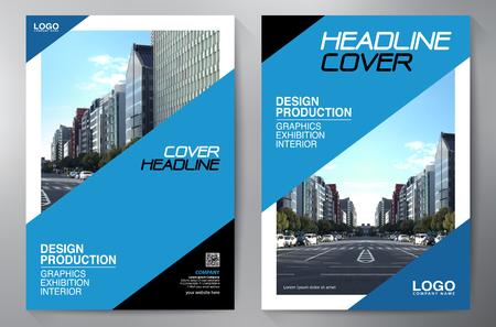 Brochure commerciale. Conception de flyer. Brochures a4 modèle. Couverture de livre et magazine. Illustration vectorielle de rapport annuel