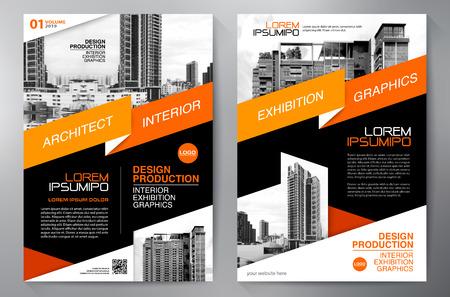 Brochure aziendale. Design volantino. Modello volantini a4. Copertina e rivista. Illustrazione vettoriale di relazione annuale