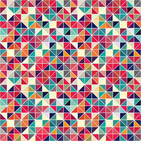 Triangle geometric shapes. Seamless Pattern. Vector and Illustrator. Ilustrace