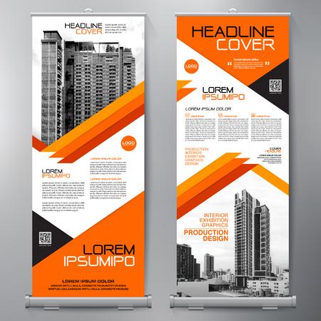 Negocio Roll Up. Standee Design. Plantilla de banner Presentación y folleto Flyer. Ilustración vectorial