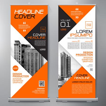Business Roll Up. Standee Design. Banner Template. Presentation and Brochure Flyer. Vector illustration Ilustrace