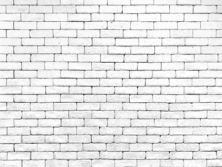 Brick wall white texture background. Vintage wallpaper. Reklamní fotografie