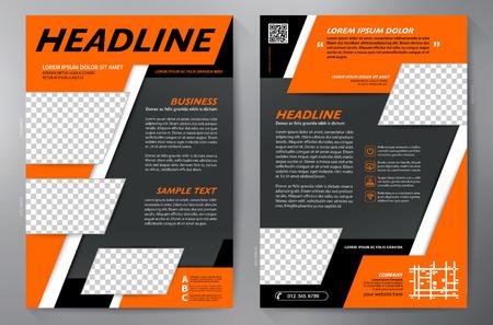 Brochure aziendale. Design volantino. Modello volantini a4. Copertina e rivista. Illustrazione vettoriale di relazione annuale Vettoriali