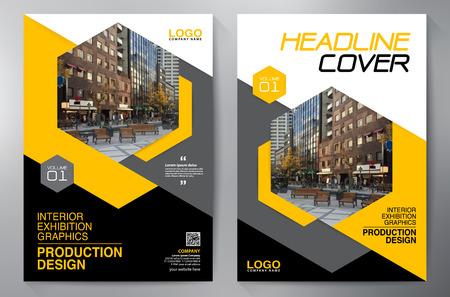 Geschäftsbroschüre. Flyer Design. Faltblätter a4 Vorlage. Titelbuch und Magazin. Geschäftsbericht Vektorillustration Vektorgrafik