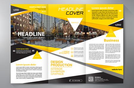 Business Brochure. Flyer Design. Leaflets 3 fold Template. Cover Book and Magazine. Annual Report Vector illustration Vektorové ilustrace