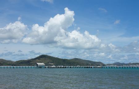 berth: small berth in thailand beach at the mooring