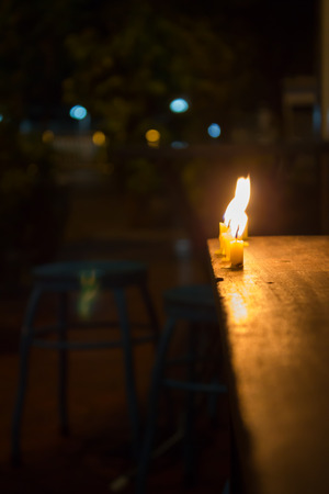 candlelight memorial: candle flame at night