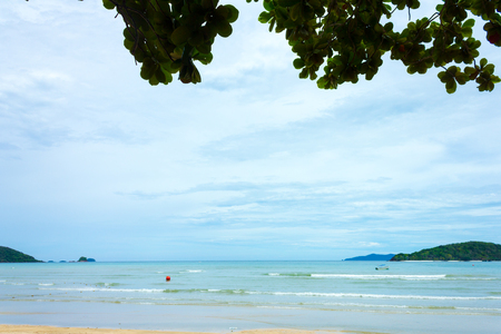 view island and tropical sea,Thailand Stock Photo