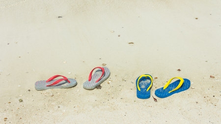 slippers: slippers on the beach