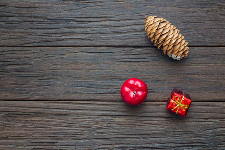inter: Christmas decorations on wooden background,copy space