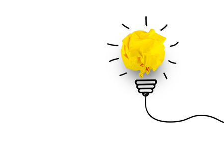 creative idea.Concept of idea and innovation with paper ball    Stock Photo