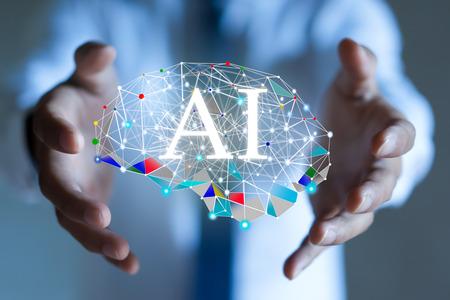 AI(人工知能)コンセプト。ディープラーニング。