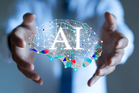 AI (kunstmatige intelligentie) concept. diepgaand leren.