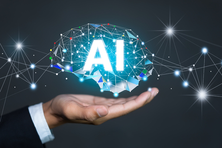 AI(Artificial Intelligence) concept. deep learning.