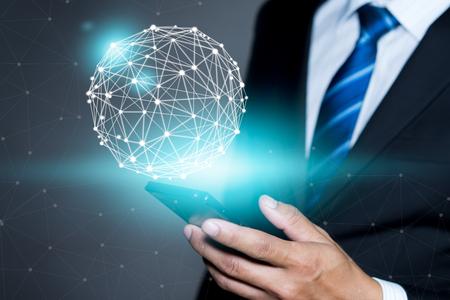 World connected.Social network concept. Foto de archivo